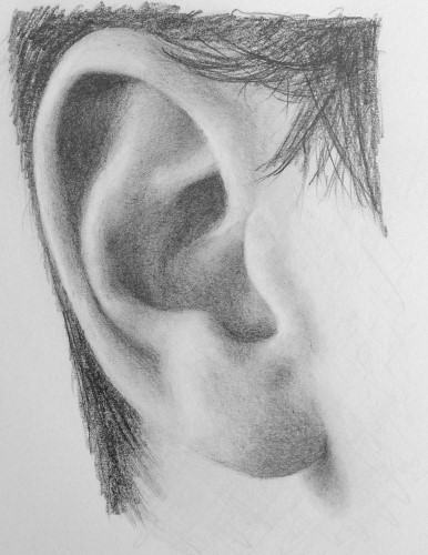 Pencil Drawing Made Easy | Learn pencil drawing the easy way Ear Sketches